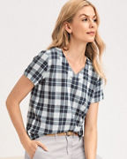 Cropped Boxy Gauze Shirt