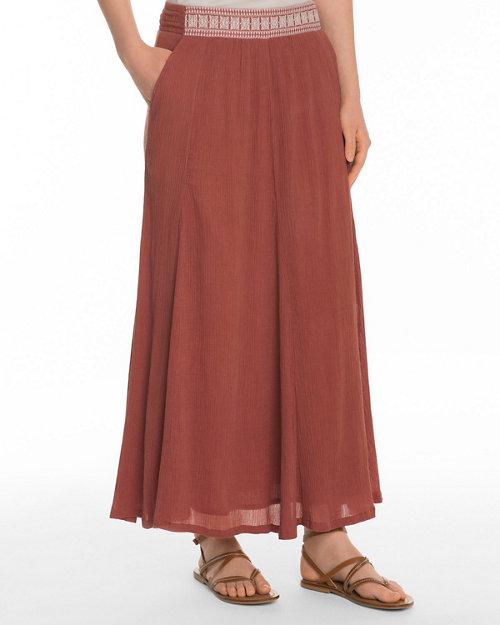 3f06b600e32 Waist-Detail Gauze Maxi Skirt