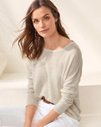Linen Boatneck Oversized Sweater