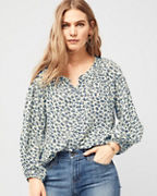 Velvet by Graham & Spencer Printed-Gauze Button-Front Top
