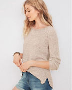 High-Low Textured Pullover