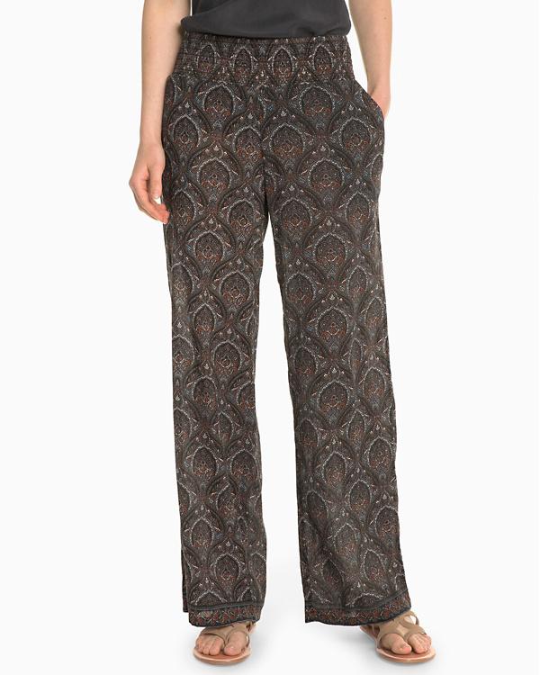 78b6669729989f Wide-Leg Gauze Pants | Garnet Hill