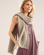 Crinkled-Linen Wrap