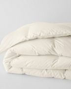 EILEEN FISHER Organic-Cotton White Goose Down Comforter