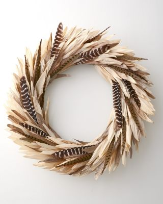 New Corn Husk Wreath by Garnet Hill