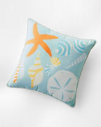 Hable Indoor-Outdoor Seashells Pillow