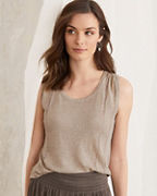 Organic-Linen Pleat-Detail Sweater