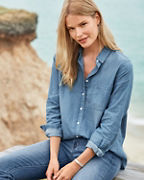 Essential Chambray Button-Down Shirt