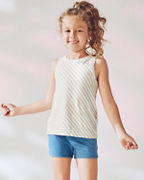 Girls' Slub-Cotton-Knit Striped Tank