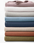 Isa Stonewashed Organic-Cotton Blanket, Throw, and Pillow Cover
