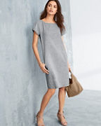 EILEEN FISHER Hemp & Organic Cotton Shift Dress