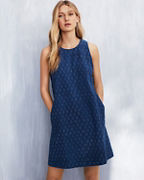 EILEEN FISHER Organic-Cotton Block-Print Dress