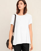 EILEEN FISHER Viscose-Jersey Short-Sleeve Tee