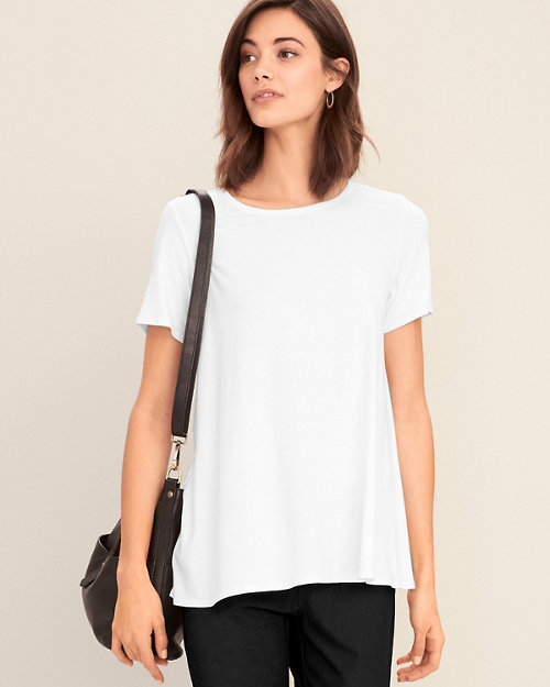3cc28f1cb3 EILEEN FISHER Viscose-Jersey Short-Sleeve Tee