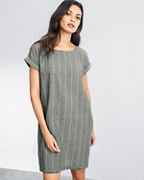 EILEEN FISHER Organic-Cotton & Hemp Short Dress