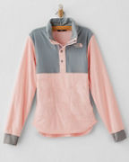 The North Face® Girls' Mountain Sweatshirt Quarter-Snap Jacket
