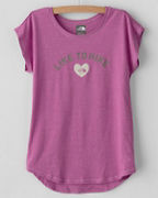 The North Face® Girls' Tri-Blend Scoop-Neck Tee