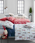 Printed Lightweight Down Comforter, Throw, and Sham