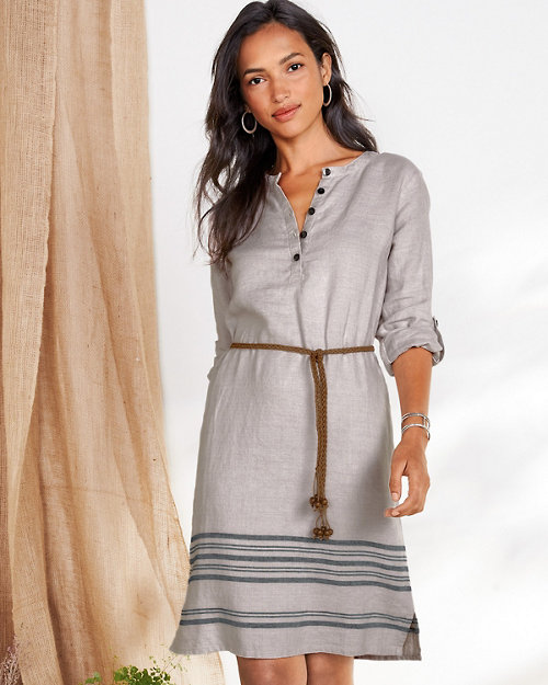 86f0c01cd22 Linen Belted Shirtdress