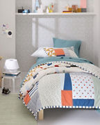 Tumbled Blocks Quilt and Sham