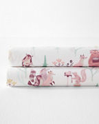 Woodland Party Organic-Cotton Percale Bedding