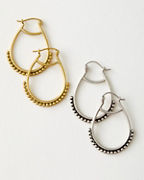 Satya Embellished Hoop Earrings