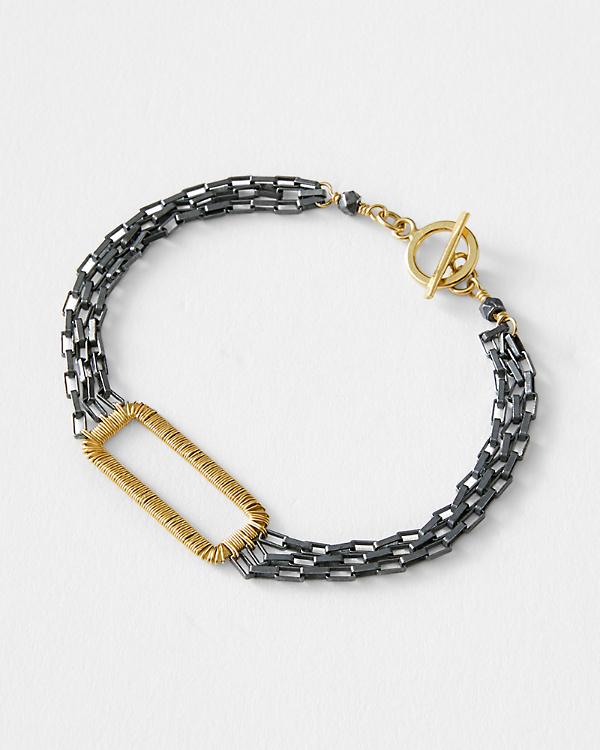Dana Kellin Mixed Metal Bracelet Garnet Hill