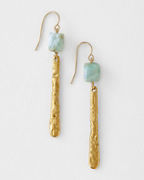 Mickey Lynn Larimar Bar Earrings
