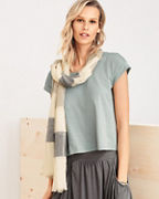 Vismaya Linen Striped Scarf