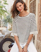 Lilla P Cashmere Striped Sweater