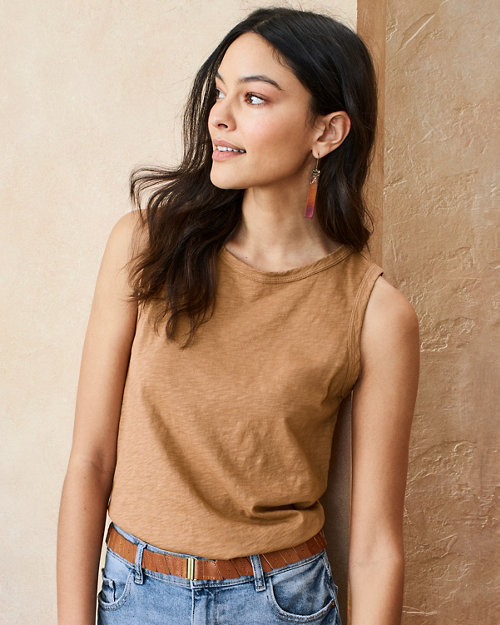 e0bf3d6458 Velvet by Graham   Spencer Slubbed-Cotton Knit Tank