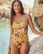 BCBG Max Azria Desert Flower One-Piece Swimsuit