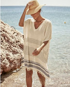 Buji Baja Stitch Stripe Cover-Up