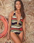 Vince Camuto Tidal Stripe One-Piece Swimsuit