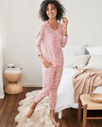 Organic-Cotton Easy Ruched Pajamas