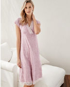 Lace-Trimmed Organic-Cotton Gown