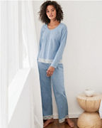 Lace-Trimmed Organic-Cotton Pajamas