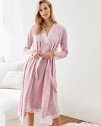 Lace-Trimmed Organic-Cotton Robe