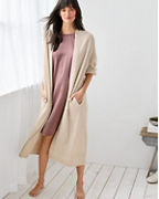 EILEEN FISHER Open-Front Brushed-Cashmere Robe