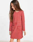 Girls' Pocket Sweatshirt Dress