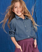 Girls' Relaxed Woven Shirt