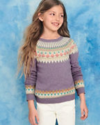 Girls' Artful Sweater