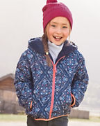 Girls' Reversible Printed Puffer Jacket