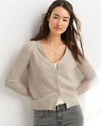 Mitered Pointelle Cardigan