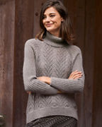 Alpaca Mixed-Stitch Turtleneck