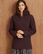 Boiled-Wool Hooded Jacket