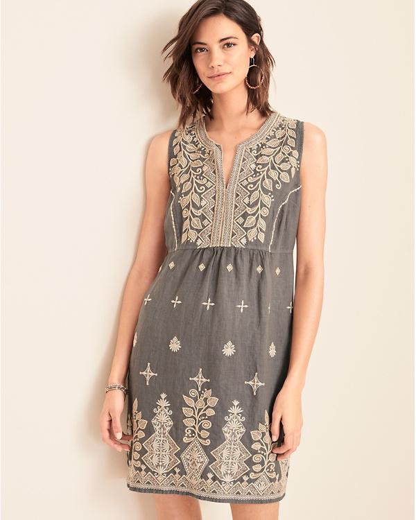 906b090251687 Johnny Was LA Tasya Embroidered Tank Dress   Garnet Hill
