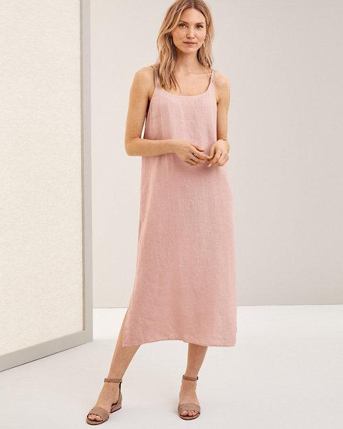 bd26c3f0de6c EILEEN FISHER Organic-Handkerchief-Linen Midi Dress