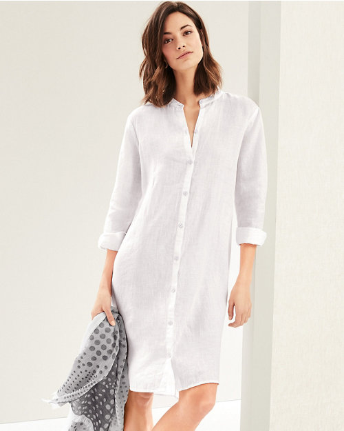 ac8ec084ab EILEEN FISHER Organic-Handkerchief-Linen Shirtdress