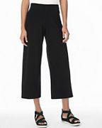 EILEEN FISHER Stretch-Cotton-Jersey Wide-Leg Cropped Pants